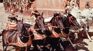 Carrera de cuadrigas. Ben-Hur