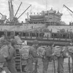 Tropas embarcan hacia Kiska