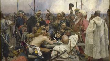 Los cosacos Zaporogos le responden al Sultán -  Ilya Repin