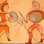 Guerreros numantinos - detalle cerámica