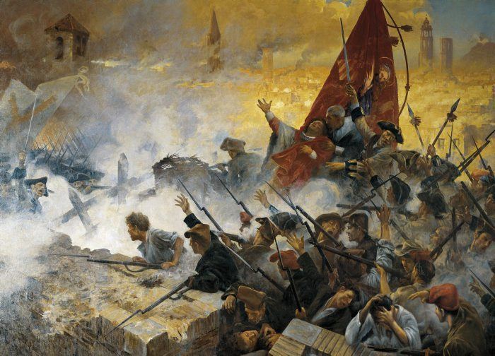 """""""L'Onze de Setembre de 1714"""" - d'Antoni Estruch i Bros (1909)"""