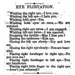 Lenguaje del coqueteo con los ojos en el siglo XIX