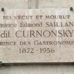 Placa conmemorativa en París