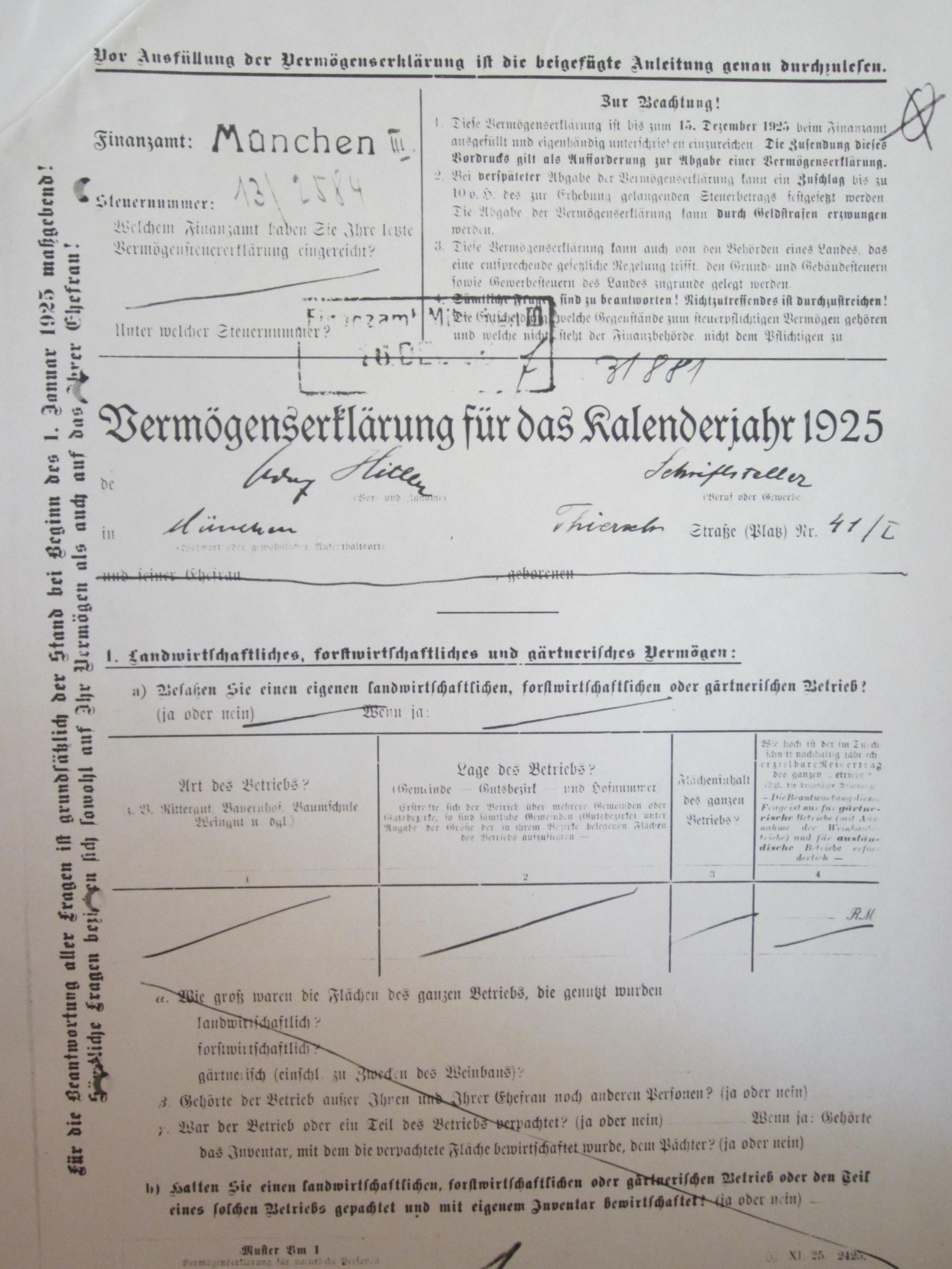 El dinero y los impuestos de Hitler