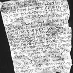 Carta de despedida de un minero poco antes de morir en el desastre de Tennessee (1902)