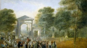 """""""La fiesta en el Jardín Botánico"""" - Luis Paret y Alcázar"""