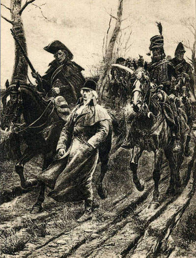 """El arresto del duque de Enghien"" de  Alphonse Lalauze"