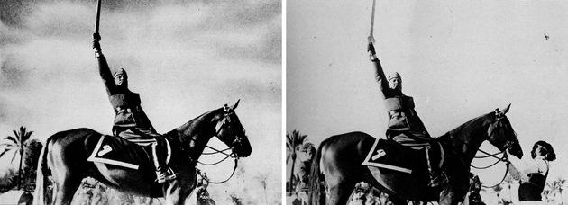 Foto manipulada - Mussolini
