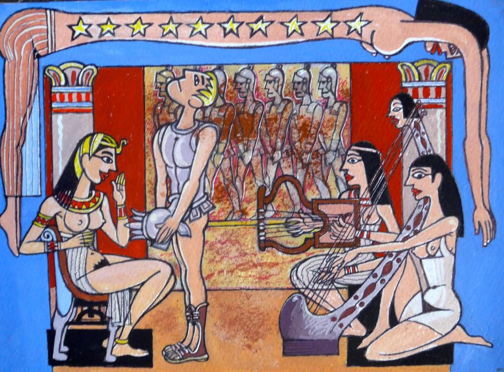 Cleopatra, la boquiabierta (Ilustración del pintor José Antonio Alcácer)