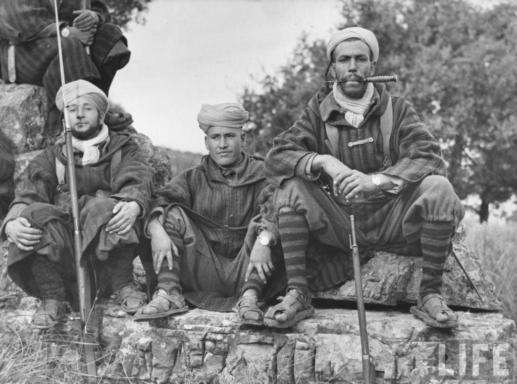 Goumiers del Cuerpo Expedicionario Francés