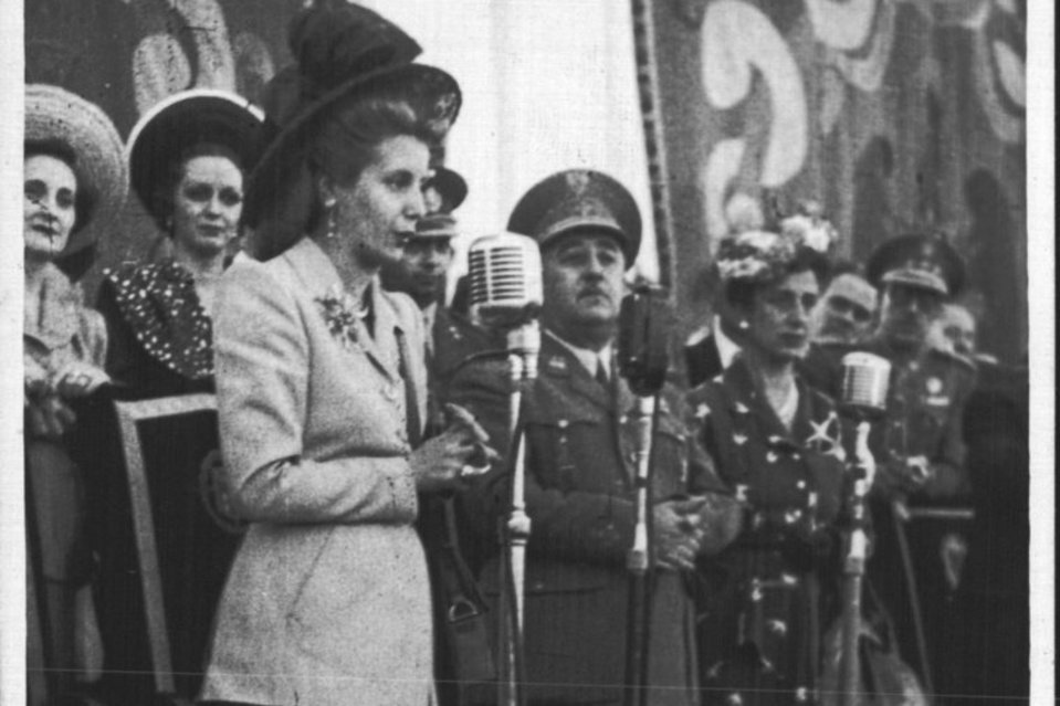 Evita, Franco y Carmen Polo