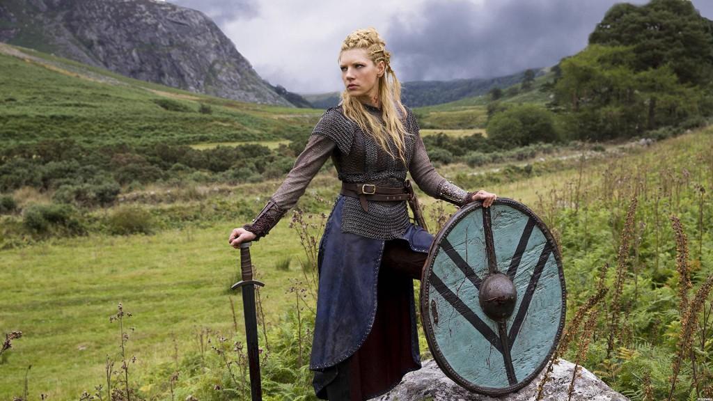 Lagertha (protagonizada en la serie Vikings por Katheryn Winnick)