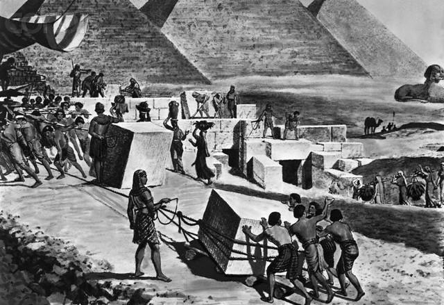 Esclavos pirámides Egipto