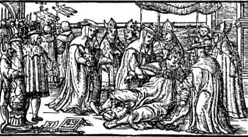 Papisa Juana dando a luz