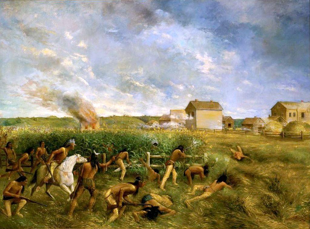 """""""Ataque en New Ulm"""" (1904) por Anton Gag"""