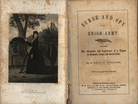 """Nurse and spy in the Union army"" (1865)"